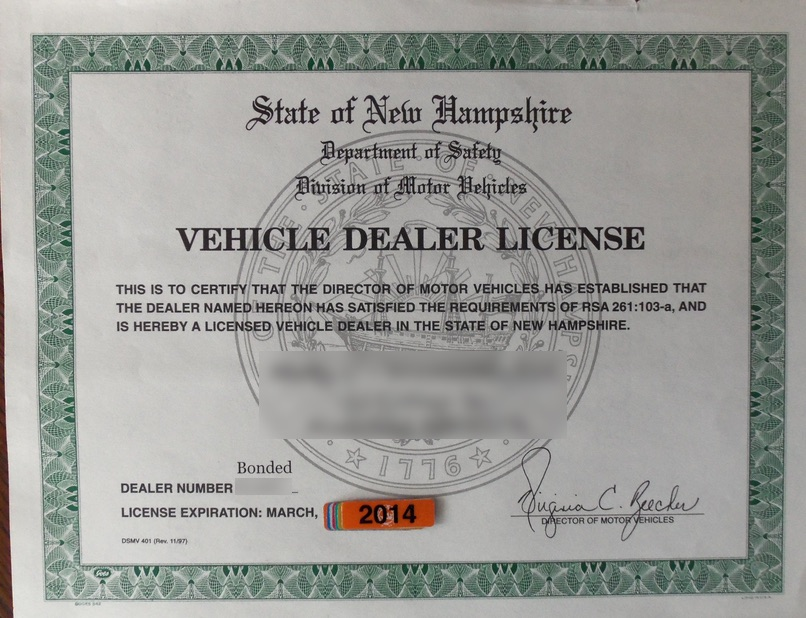 How To Get Car Dealer License In Tn